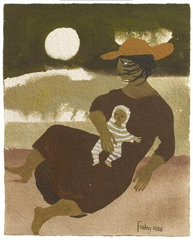 Mary Fedden, 'Woman and Baby', 1988