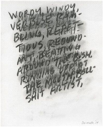 Mel Bochner, 'Wordy', 2014