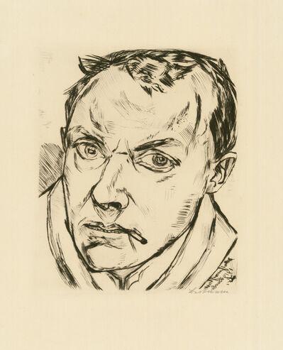 Max Beckmann, 'GROSSES SELBSTBILDNIS', 1919