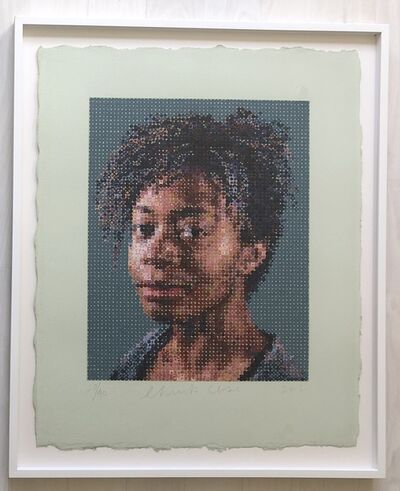 Chuck Close, 'Kara Walker', 2012