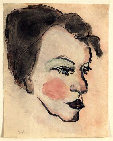 Emil Nolde, 'Woman's Head in Half Profile'