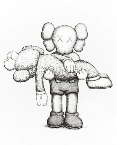 KAWS, 'KAWS LIMITED EDITION ART BOOK WITH SCREENPRINT 2019', 2019