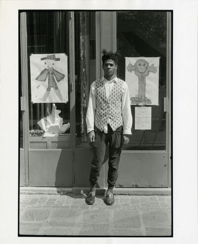 Michael Halsband, 'Jean-Michel Basquiat Atelier 27 Paris, France, July 1985', 1985