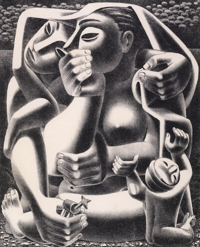 Emilio Amero, 'Where?', 1950