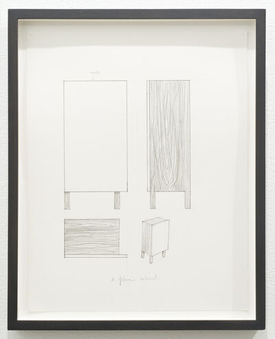 Roy McMakin, 'Untitled (a plain cabinet)', 2012