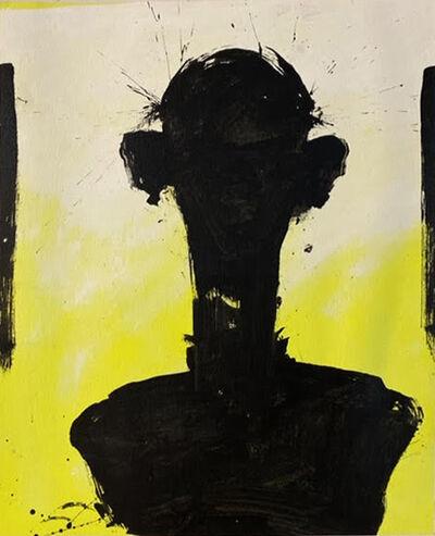 Richard Hambleton, 'George Condo Yellow Neon II', 2000-2001