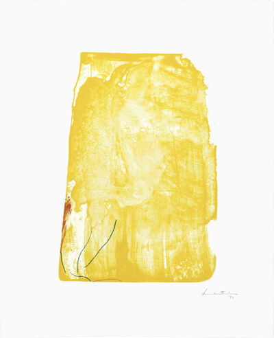 Helen Frankenthaler, 'I Need Yellow', 1973
