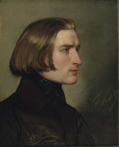 Friedrich von Amerling, 'Portrait of Franz Liszt', 1838