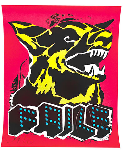 FAILE, 'DOG (Black Light)', 2015