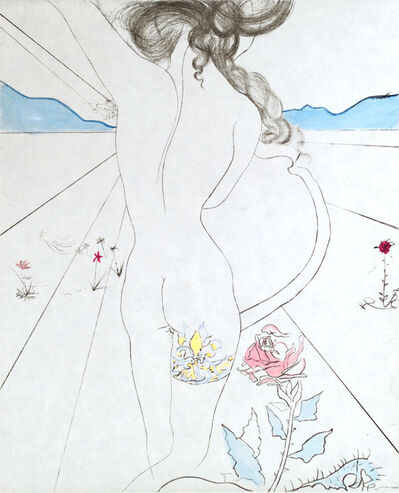 Salvador Dalí, 'The Hippies Nude With Garter'