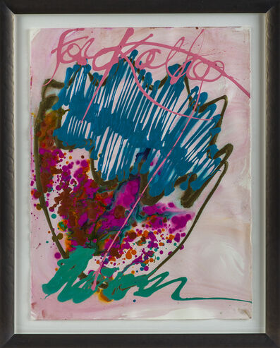 Dale Chihuly, 'Dale Chihuly Untitled Macchia Original Signed Watercolor and Acrylic Contemporary Art Painting', 1990-2009