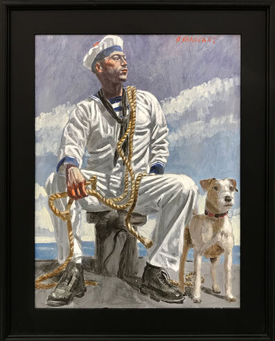Mark Beard, '[Bruce Sargeant (1898-1938)] Seated Sailor with Dog', n.d.
