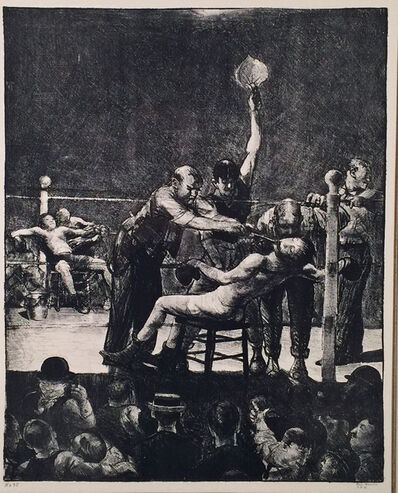 George Wesley Bellows, 'BETWEEN ROUNDS', 1916