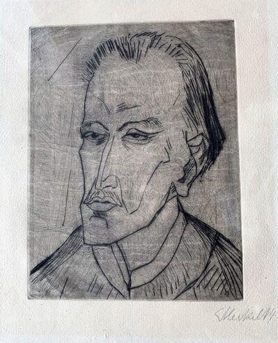 Erich Heckel, 'Bildnis M.H.', 1914