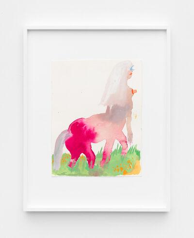 Allison Schulnik, 'Pink Centaurette', 2015
