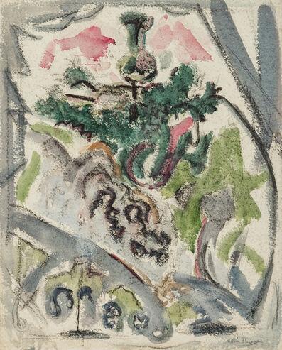 John Marin, 'Little Fir Tree, Deer Isle', 1921