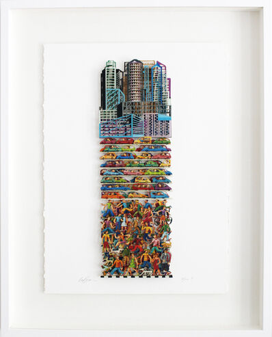 David Gerstein, 'Megalopolis - Paper Cut', 2006