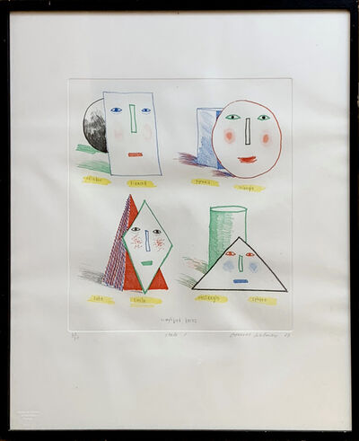 David Hockney, 'Simplified Faces State I', 1973