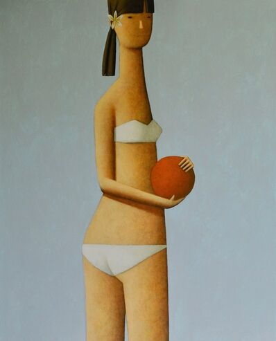 Craig Parnaby, 'Girl with red ball ', 2018