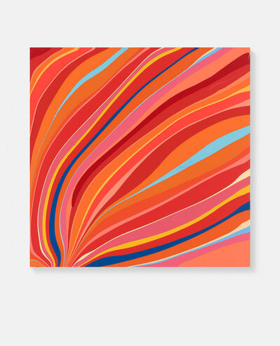 Ian Davenport, 'Red and Orange Flow', 2020