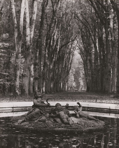 André Kertész, 'Versailles (Rows of Trees, Fountain)'