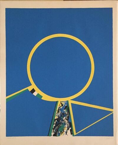 Budd Hopkins, 'Abstract circles in Yellow and Blue', 1970-1979