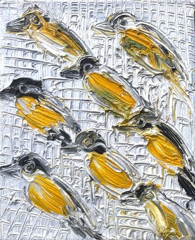 Hunt Slonem, 'Untitled. (yellow birds)', 1992