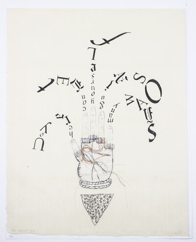Lesley Dill, 'Fingertip Scroll', 2013