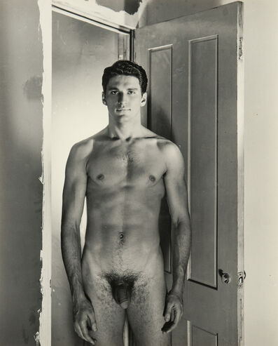 George Platt Lynes, 'Two Portraits of Jack Fontan (Nude and Clothed),', c. 1954