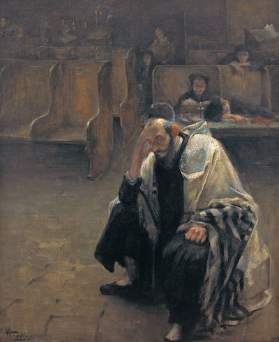 Alfred Wolmark, 'In the Synagogue', 1906