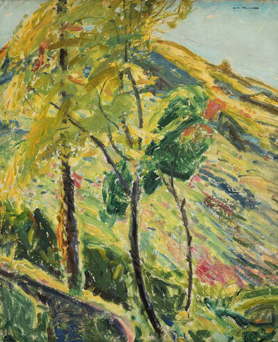 Alfred H. Maurer, 'Landscape with Mountain', ca. 1920
