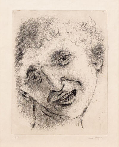 Marc Chagall, 'Self Portrait with a Laughing Expression', 1924-1925