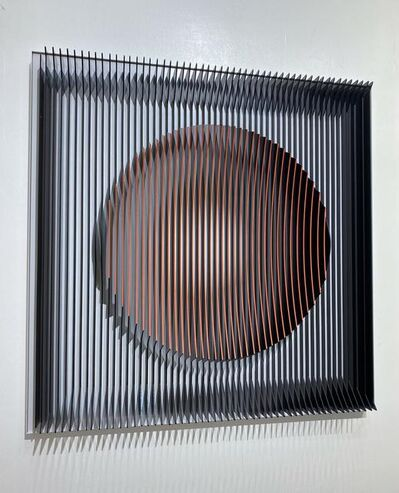 J. Margulis, 'J. Margulis - Orange moon - kinetic wall sculpture ', 2020