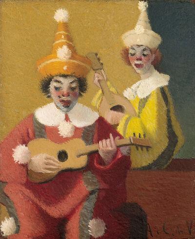 Antonio Calderara, 'Due pagliacci', 1945