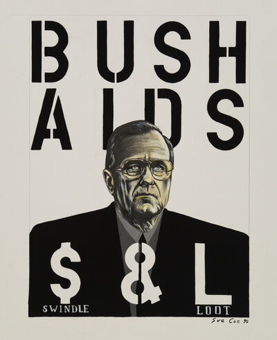 Sue Coe, 'Bush Aids (Swindle & Loot)', 1990