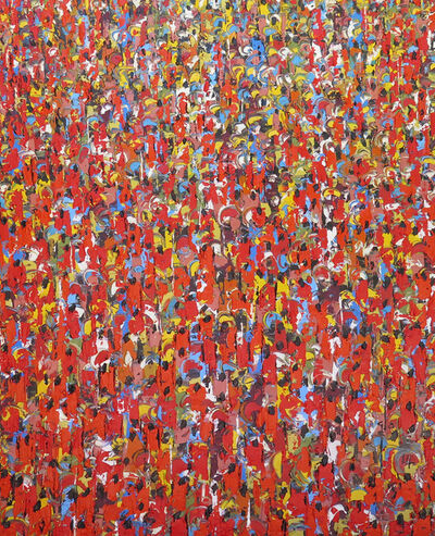 Ablade Glover, 'The people (red) II Prof 013/014', 2015-2016