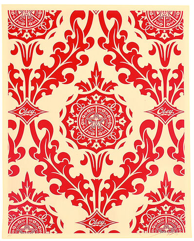 Shepard Fairey (OBEY), 'PARLOR PRINT (Artist Proof Red & Cream)', 2010