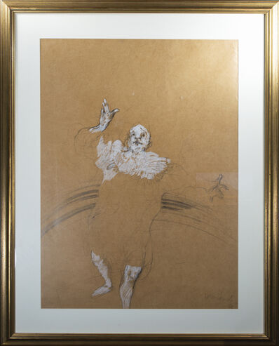Claude Weisbuch, 'Clown, on butcher like paper', 1980