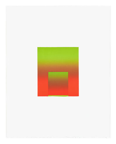 Inka Bell, 'Bright Green and Red', 2021