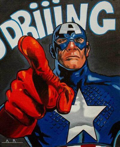 Alain Bertrand, 'Captain America Ring Twice', 2019