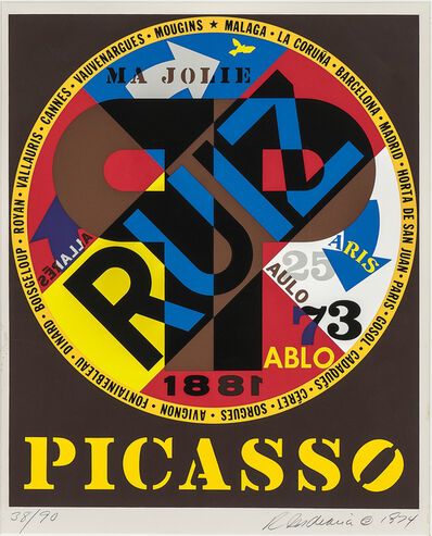 Robert Indiana, 'Picasso', 1974
