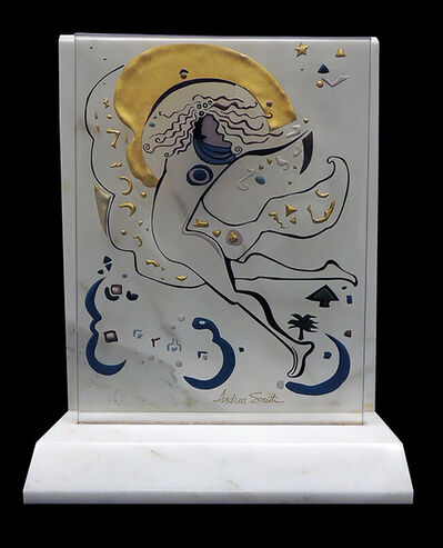 Andrea Smith, 'Andrea Smith ORIGINAL Acrylic Painting SCULPTURE Hand Signed Marble Glass Art', 21st Century