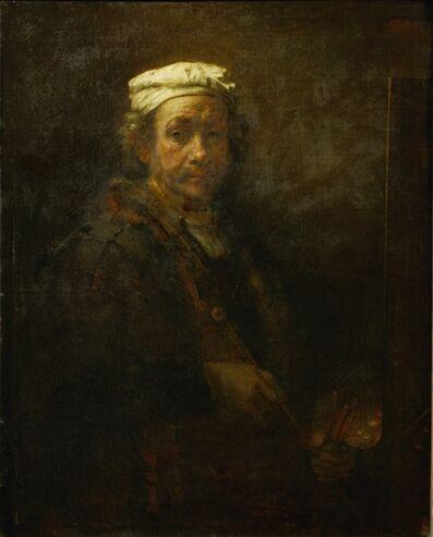 Rembrandt van Rijn, 'Self-Portrait with easel', 1660