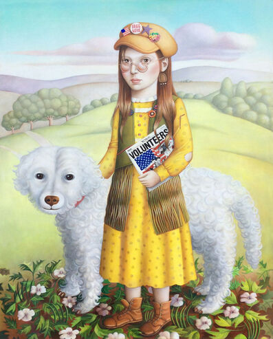 Amy Hill, 'Girl with Dog and Album', 2018