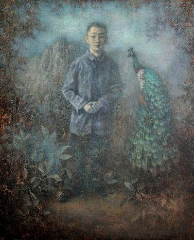 Wang Gang, 'Boy with the Peacock ', 2019