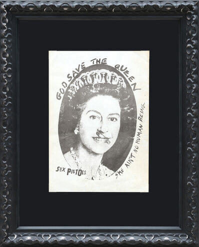 Jamie Reid, 'Original flyer for the Sex Pistols, God Save the Queen single', 1977