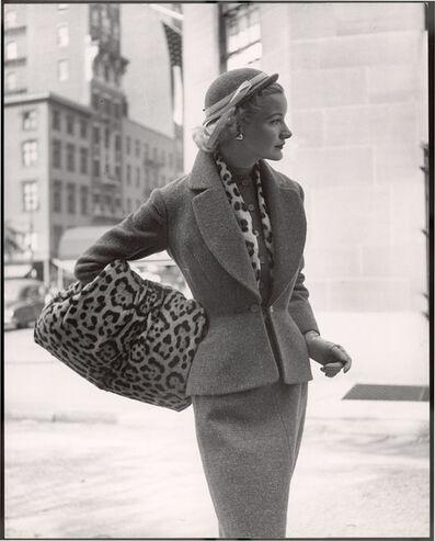 Nina Leen, 'Lady with Leopard Hand Warmer'