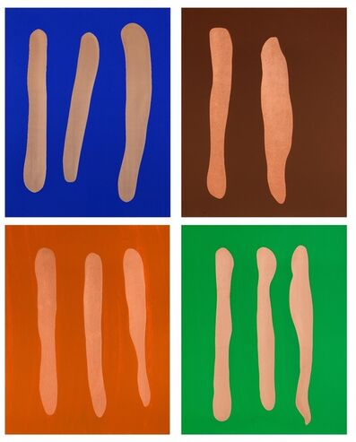 Günther Förg, 'Mr. Blue, Mr. Brown, Mr. Orange, Mr. Green', 2002