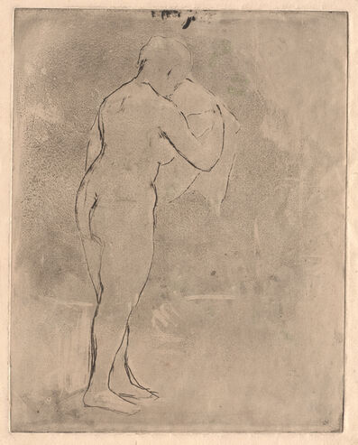 Mary Cassatt, 'Standing Nude with a Towel', circa. 1879