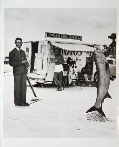 Berenice Abbott, 'Beach photo with Clark Gable and fish, Daytona Beach, Florida', July/August-1954
